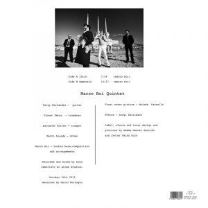 Marco Boi Quintet - Hymnosis - Contraportada